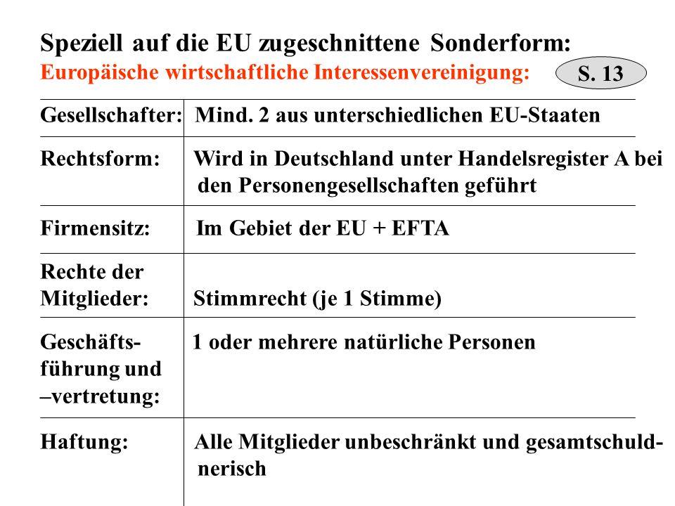 Speziell auf die EU zugeschnittene Sonderform:
