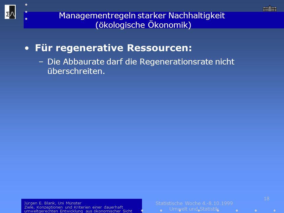 Managementregeln starker Nachhaltigkeit (ökologische Ökonomik)