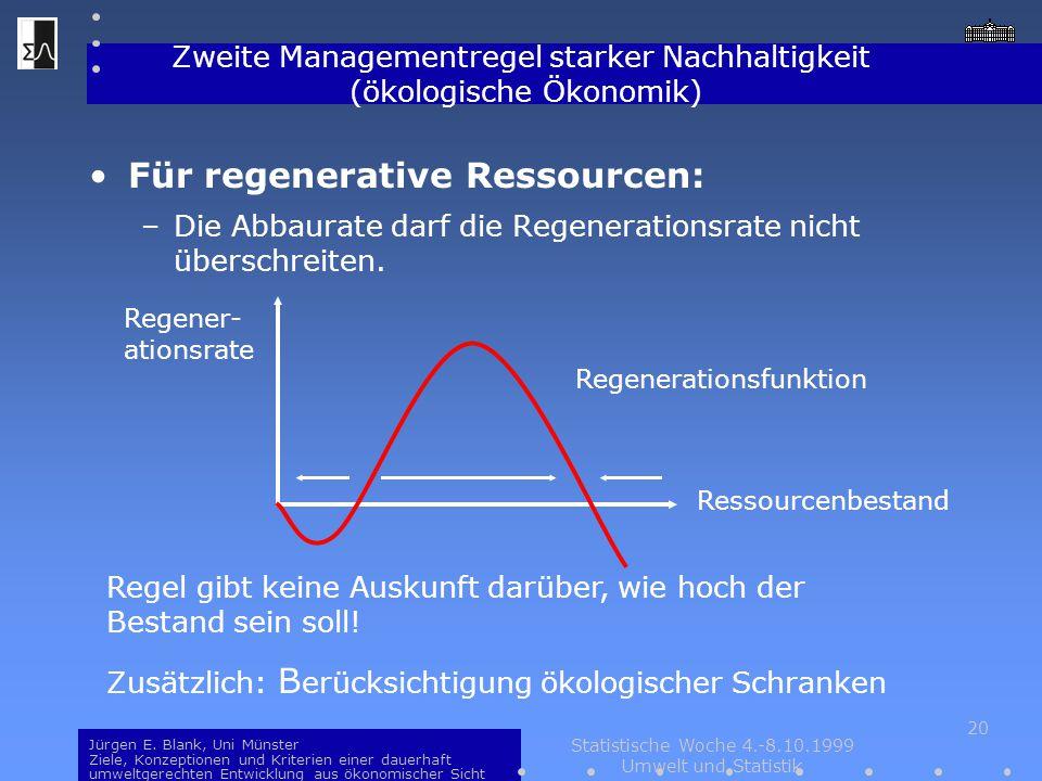 Zweite Managementregel starker Nachhaltigkeit (ökologische Ökonomik)