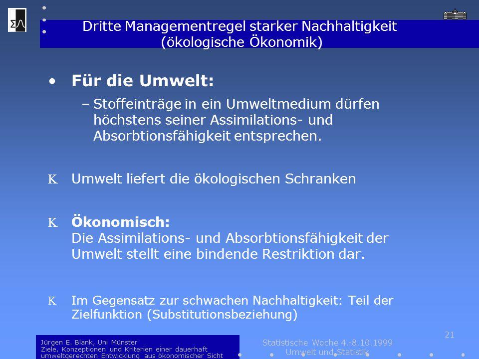 Dritte Managementregel starker Nachhaltigkeit (ökologische Ökonomik)