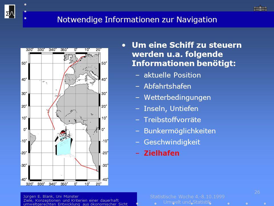 Notwendige Informationen zur Navigation