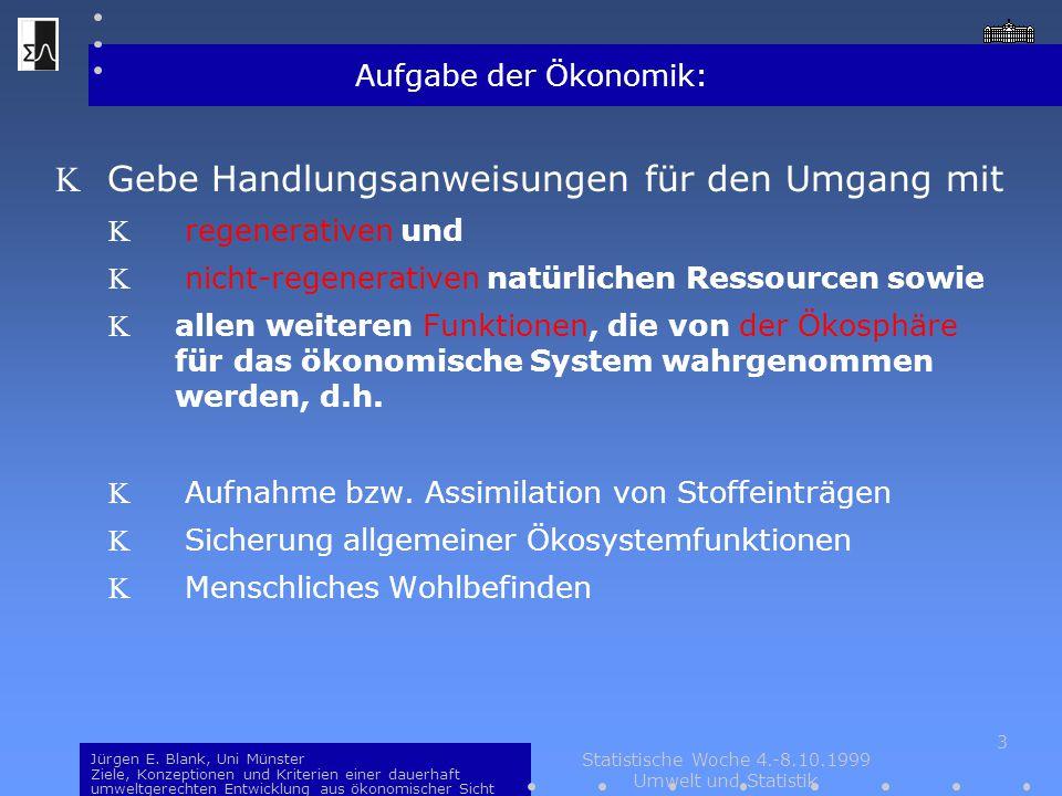 Statistische Woche 4.-8.10.1999 Umwelt und Statistik