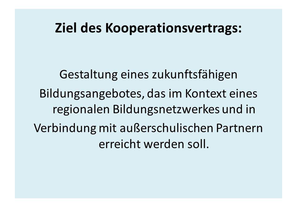 Ziel des Kooperationsvertrags: