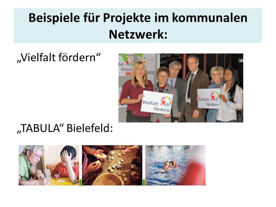 Beispiele für Projekte im kommunalen Netzwerk: