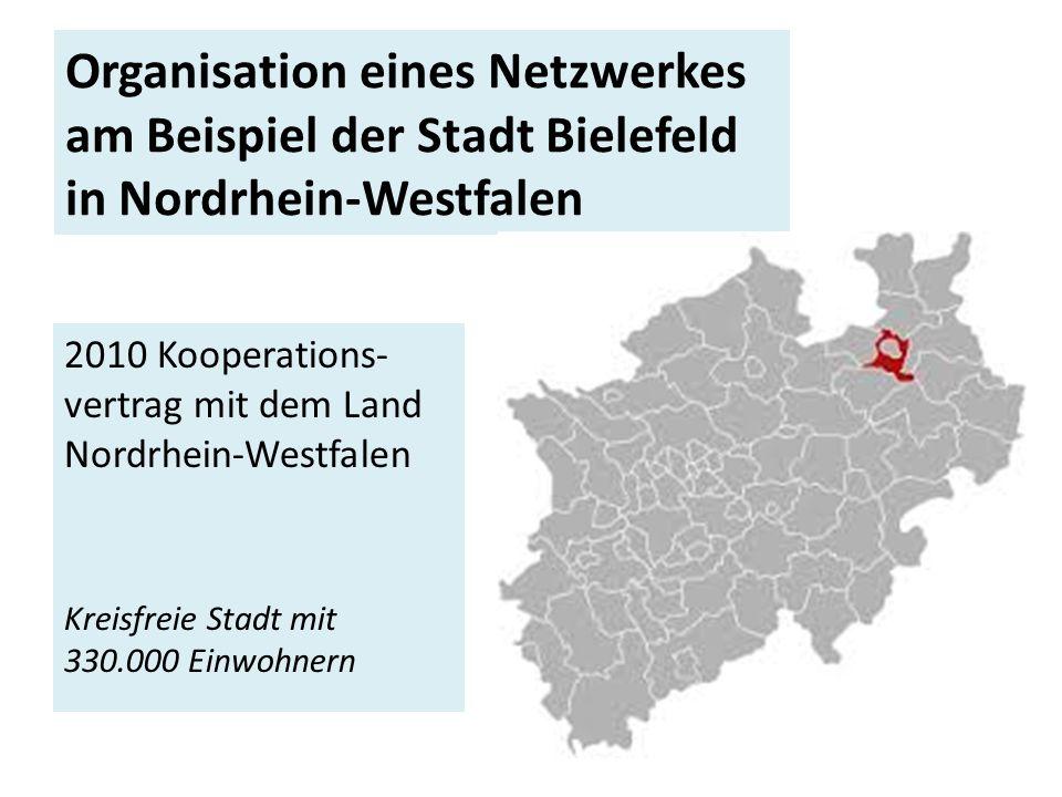 Organisation eines Netzwerkes am Beispiel der Stadt Bielefeld in Nordrhein-Westfalen
