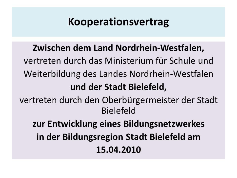 Kooperationsvertrag