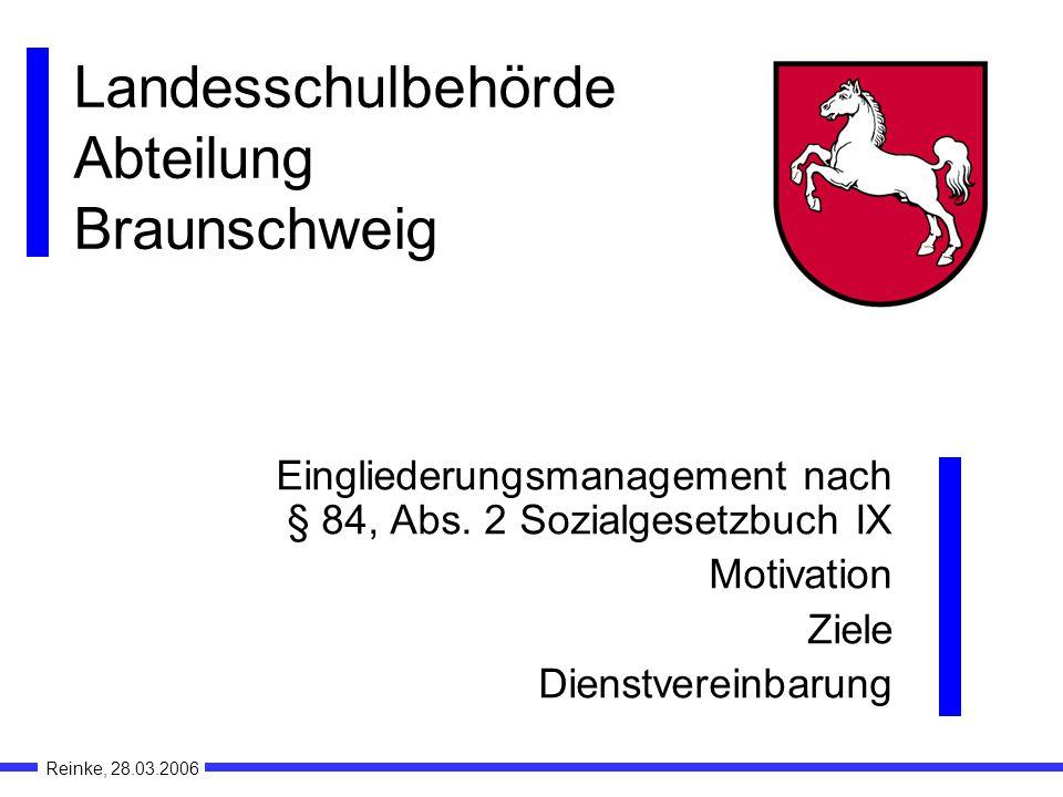 Landesschulbehörde Abteilung Braunschweig