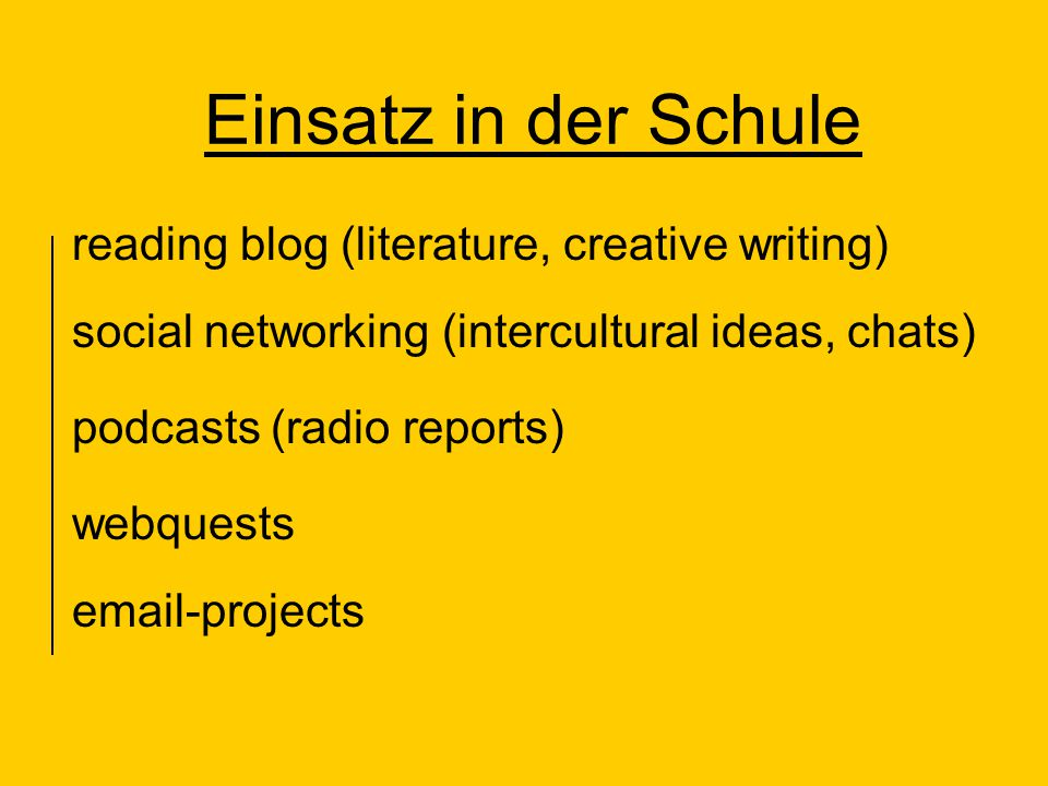Einsatz in der Schule reading blog (literature, creative writing)