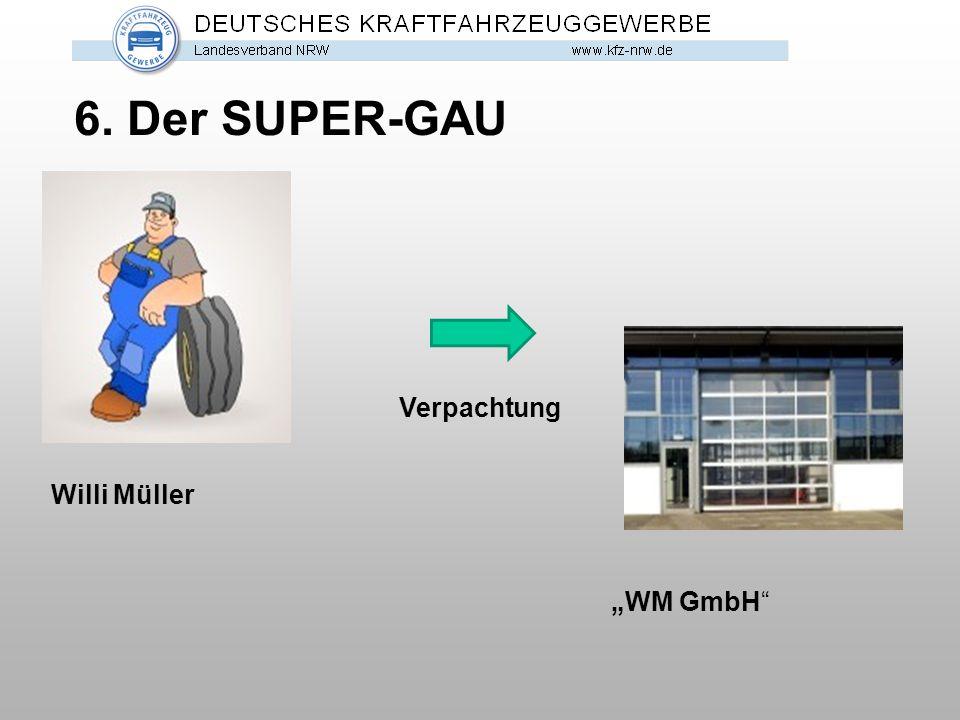 """6. Der SUPER-GAU Verpachtung Willi Müller """"WM GmbH"""