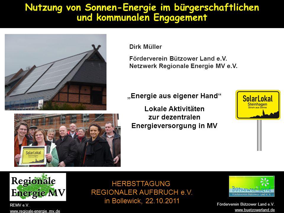 Willkommen! Nutzung von Sonnen-Energie im bürgerschaftlichen und kommunalen Engagement.