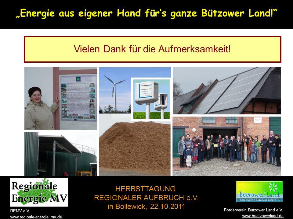"""""""Energie aus eigener Hand für's ganze Bützower Land!"""