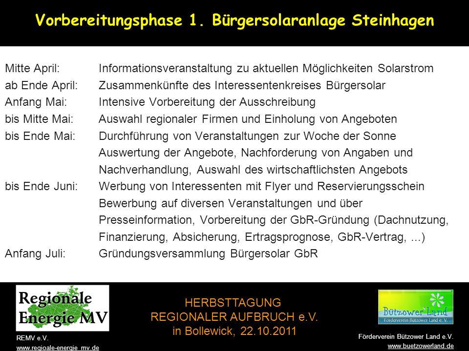 Vorbereitungsphase 1. Bürgersolaranlage Steinhagen