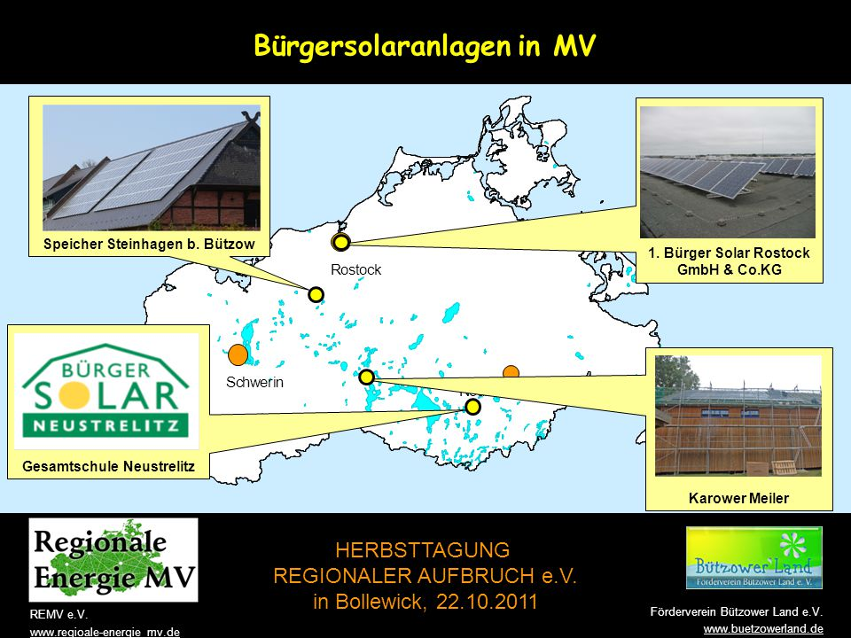 Bürgersolaranlagen in MV