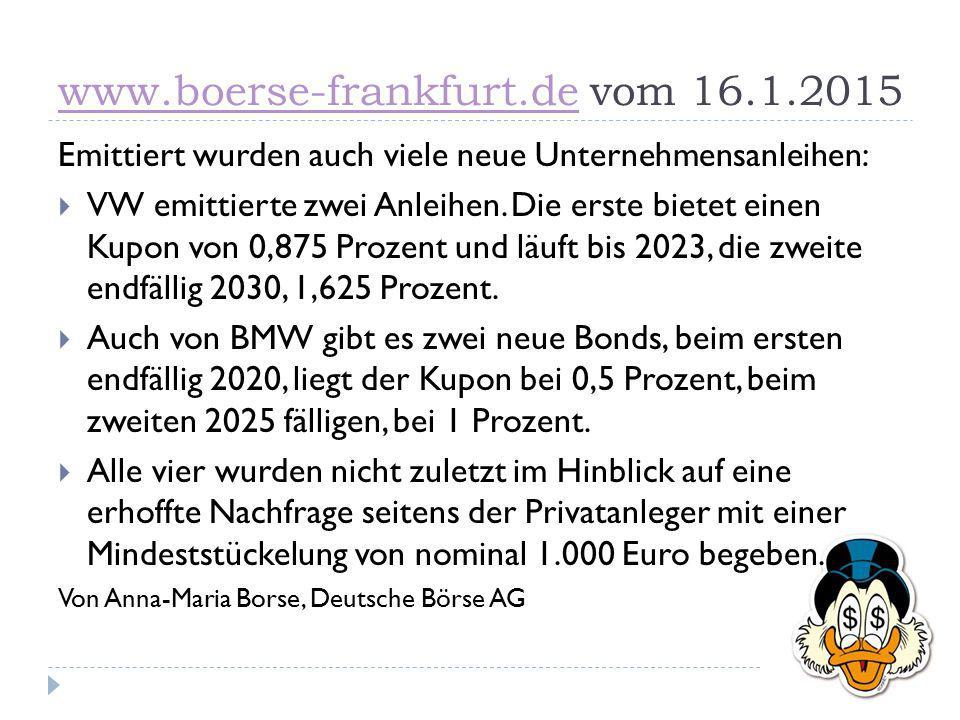 www.boerse-frankfurt.de vom 16.1.2015
