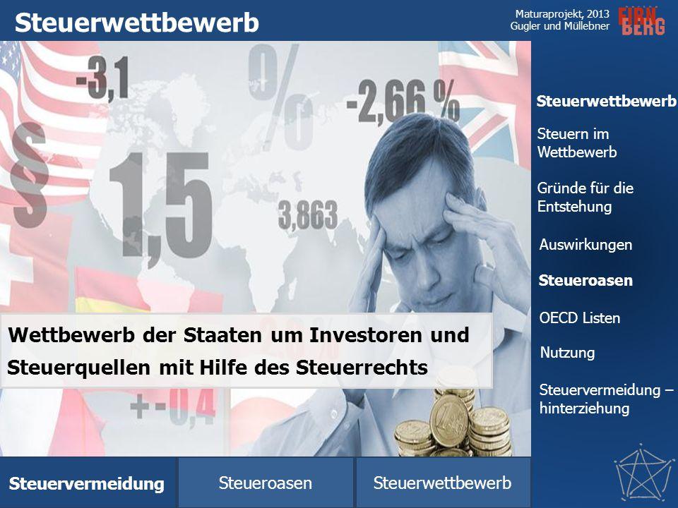 Steuerwettbewerb Wettbewerb der Staaten um Investoren und Steuerquellen mit Hilfe des Steuerrechts.