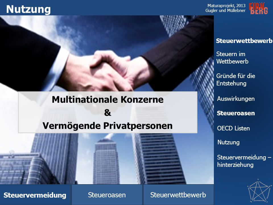 Multinationale Konzerne Vermögende Privatpersonen