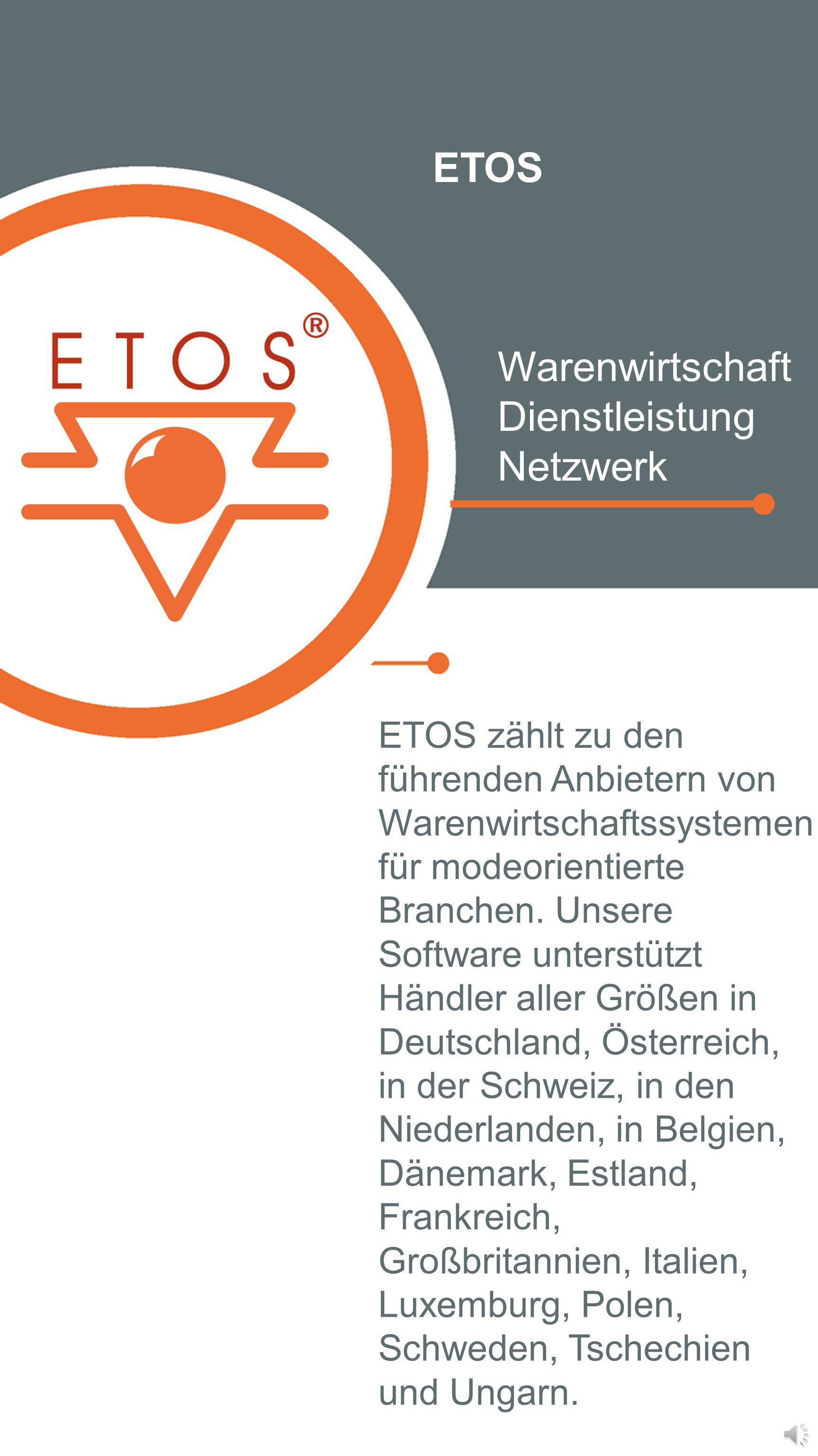 ETOS Warenwirtschaft Dienstleistung Netzwerk