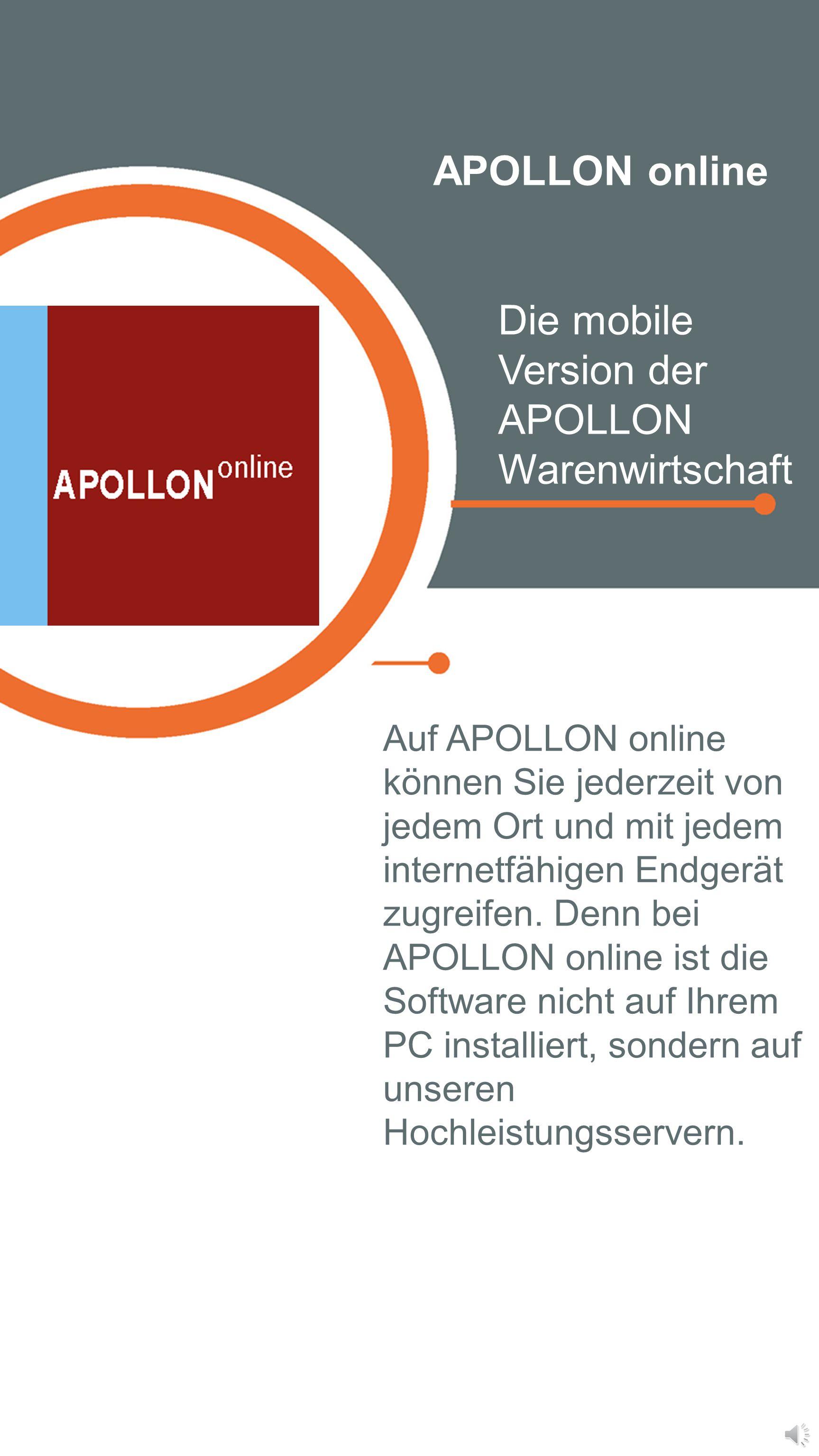 Die mobile Version der APOLLON Warenwirtschaft