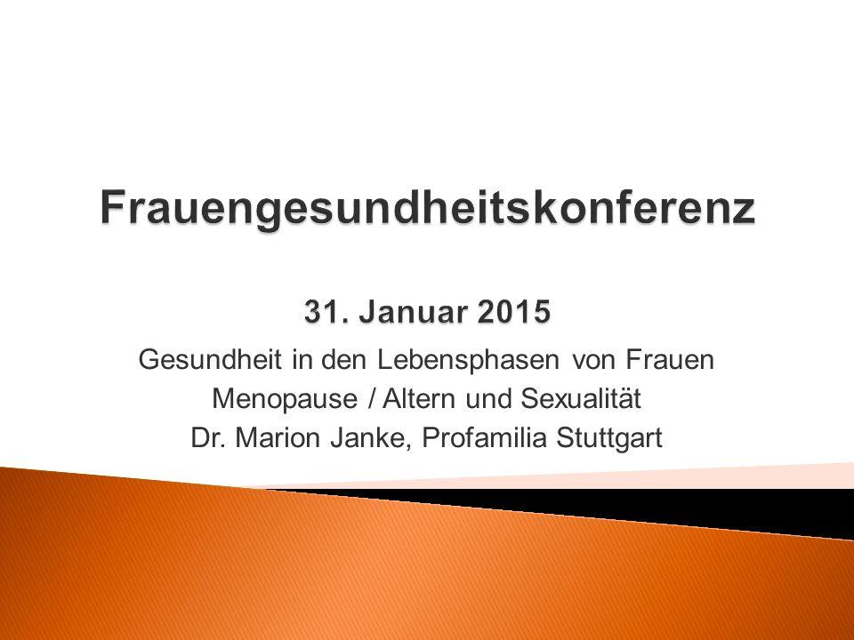 Frauengesundheitskonferenz 31. Januar 2015