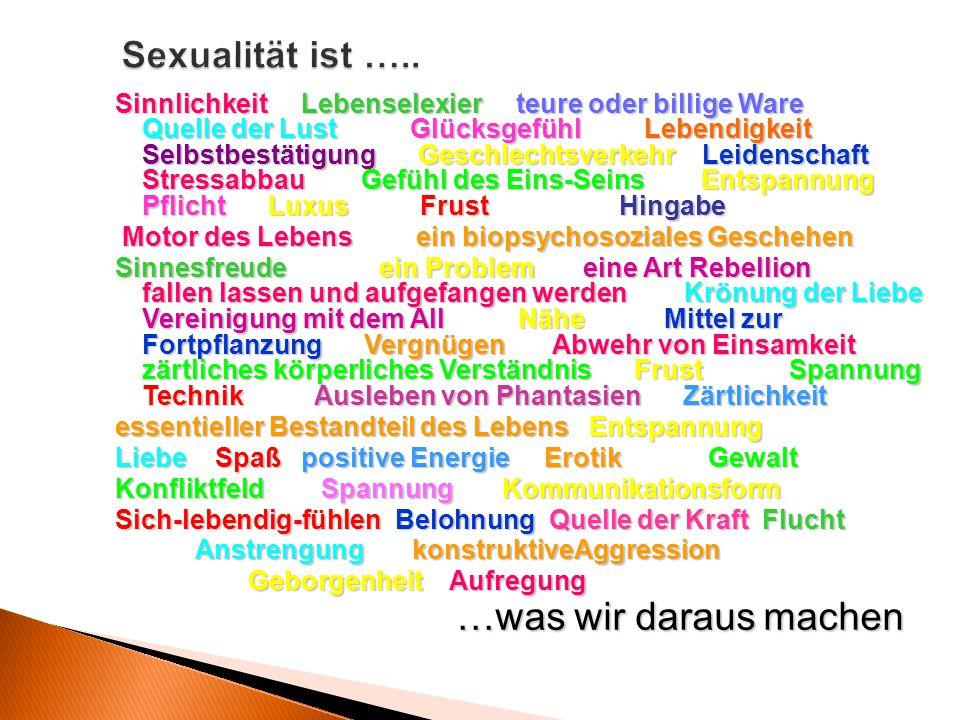 …was wir daraus machen Sexualität ist …..
