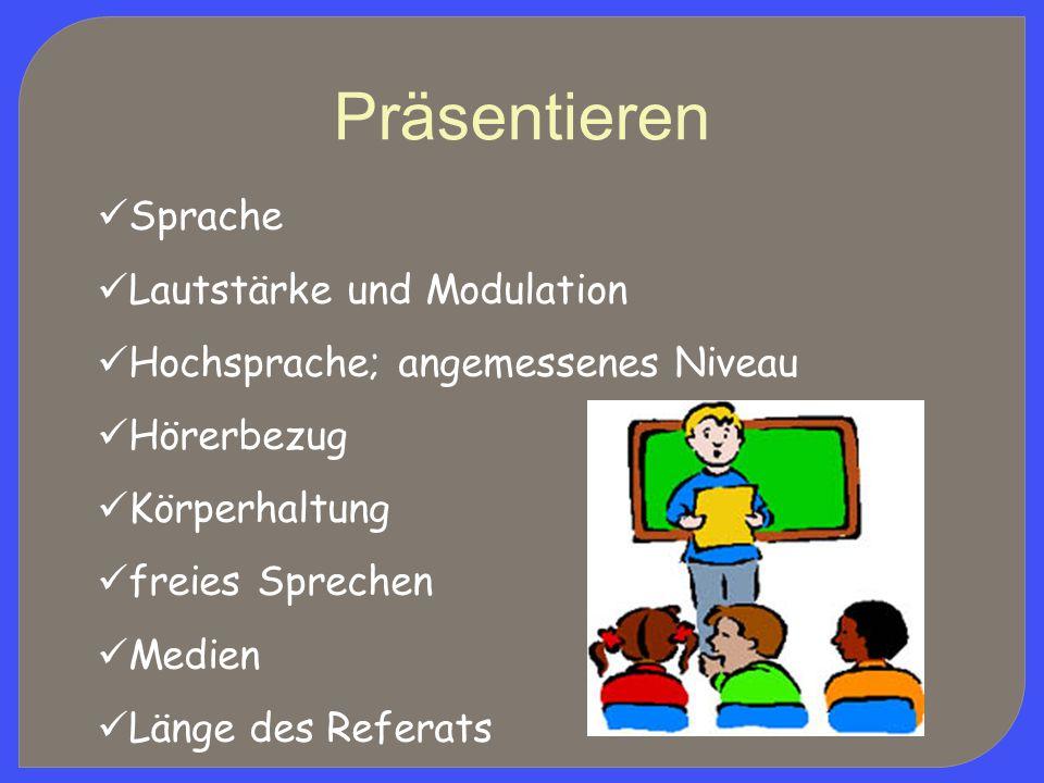 Präsentieren Sprache Lautstärke und Modulation