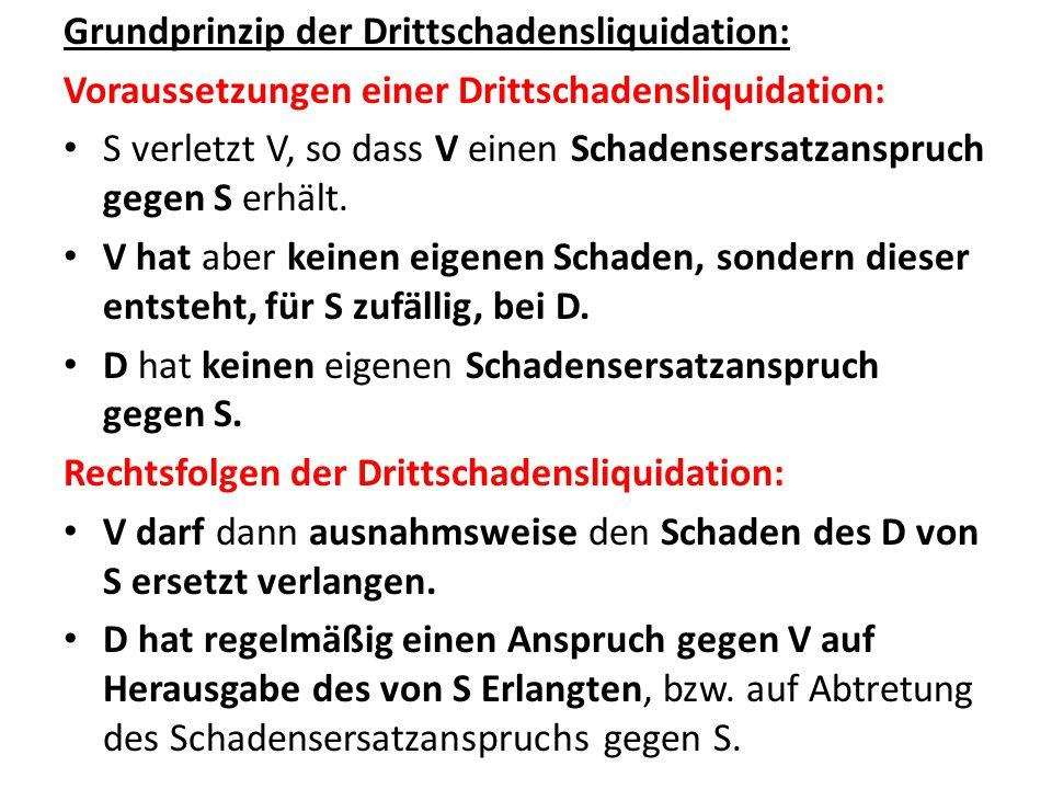 Grundprinzip der Drittschadensliquidation: