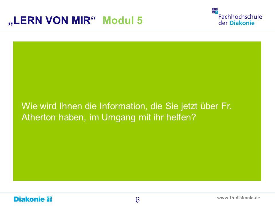 """""""LERN VON MIR Modul 5 Wie wird Ihnen die Information, die Sie jetzt über Fr."""