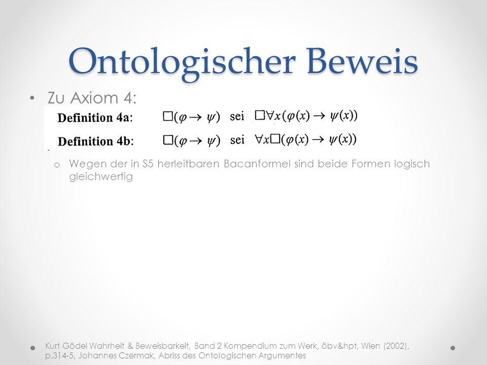 Ontologischer Beweis Zu Axiom 4: