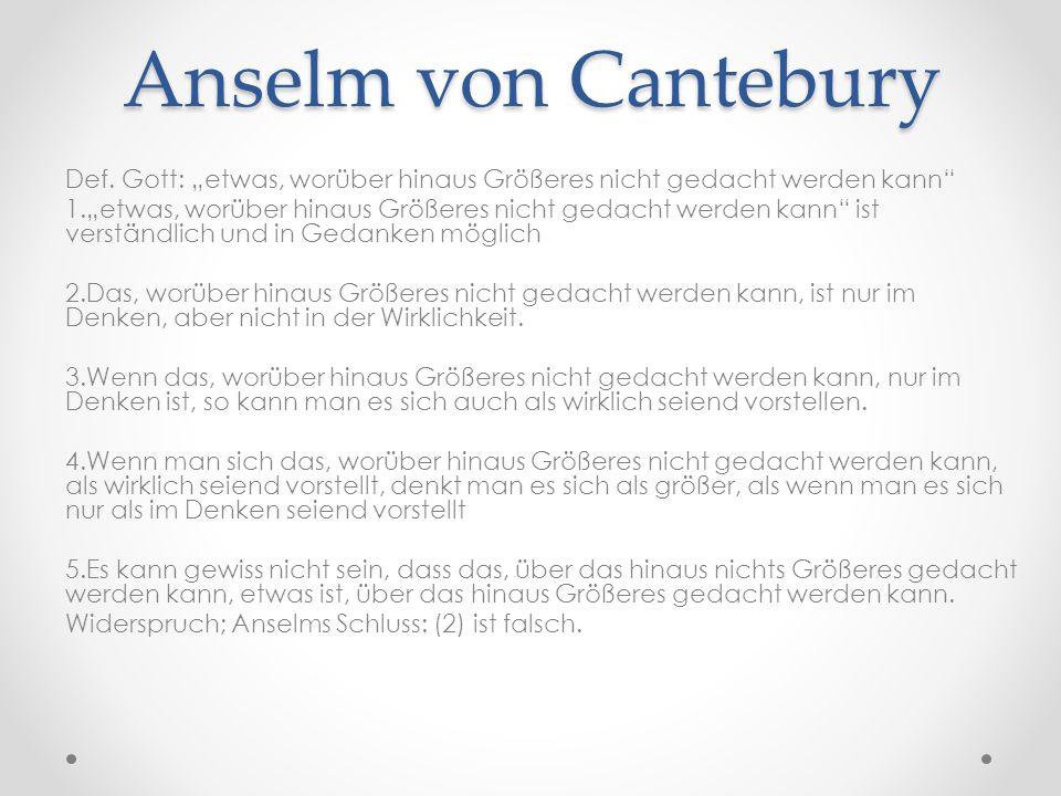Anselm von Cantebury