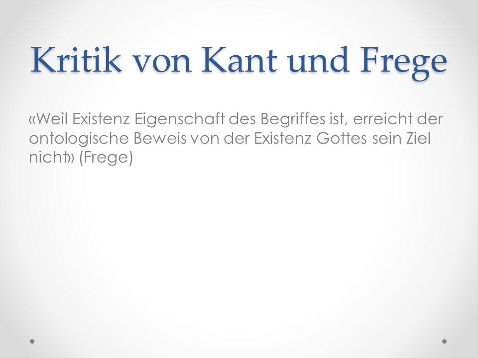 Kritik von Kant und Frege