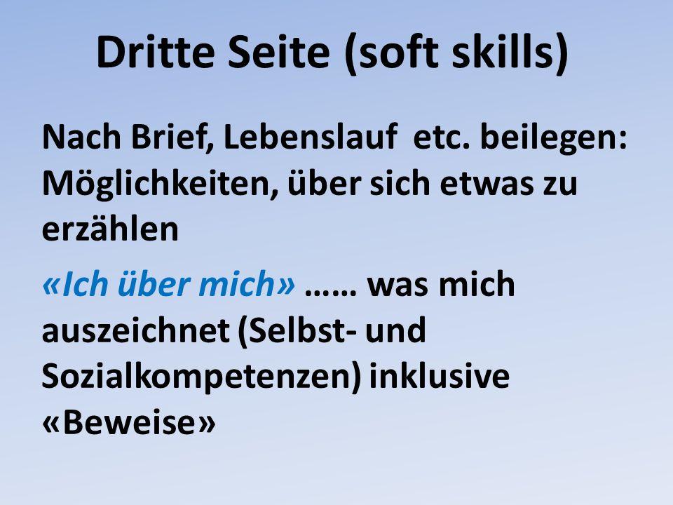 Dritte Seite (soft skills)