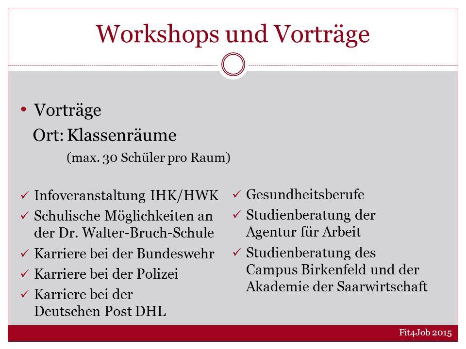 Workshops und Vorträge