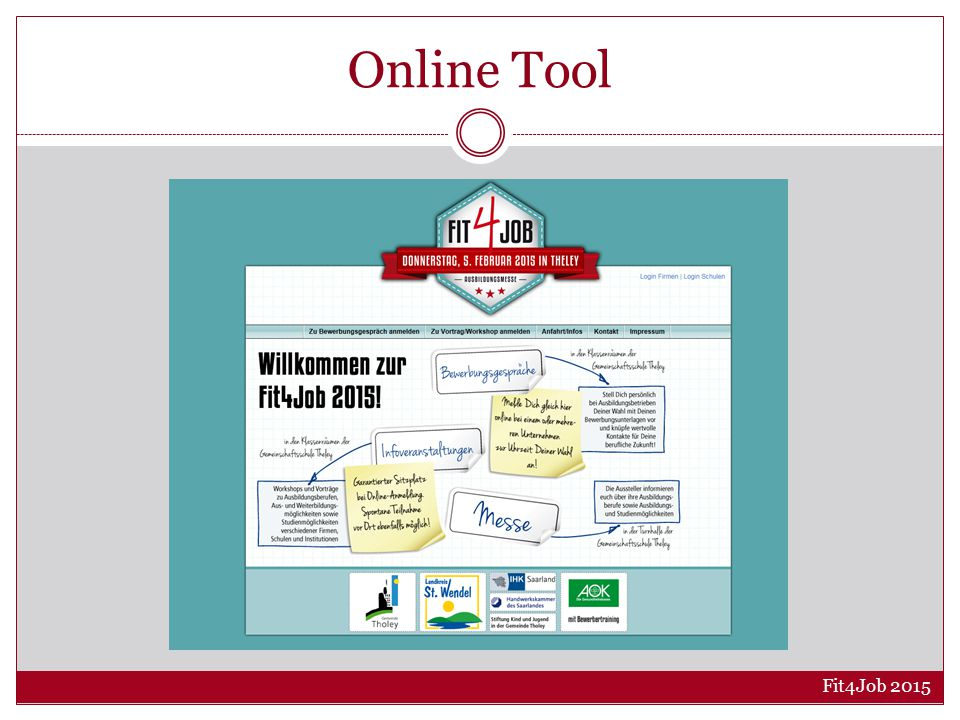 Online Tool Fit4Job 2015