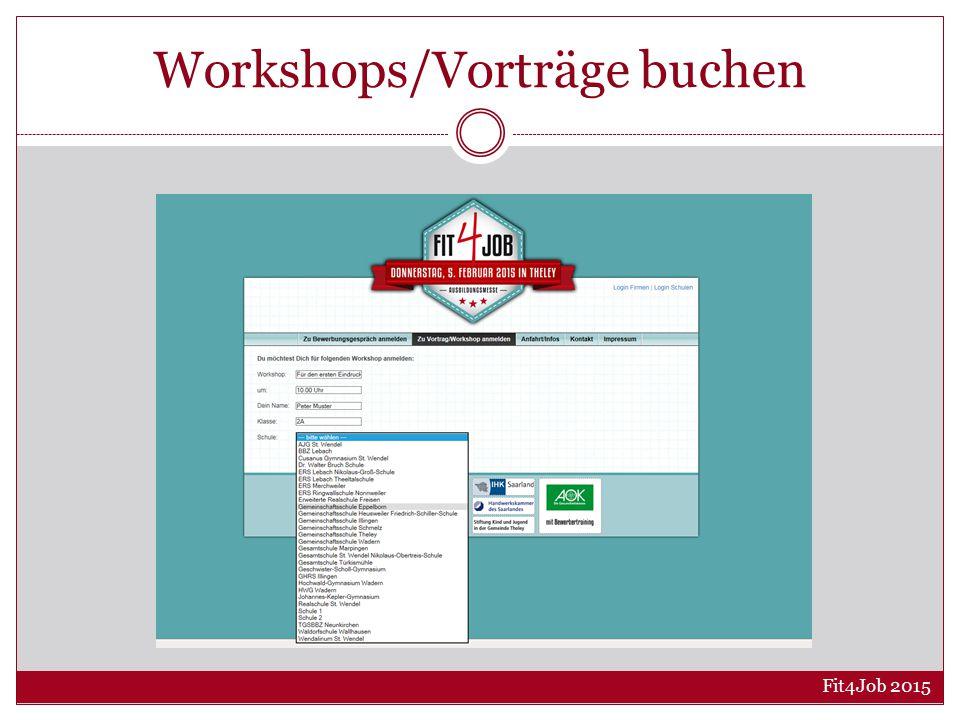 Workshops/Vorträge buchen