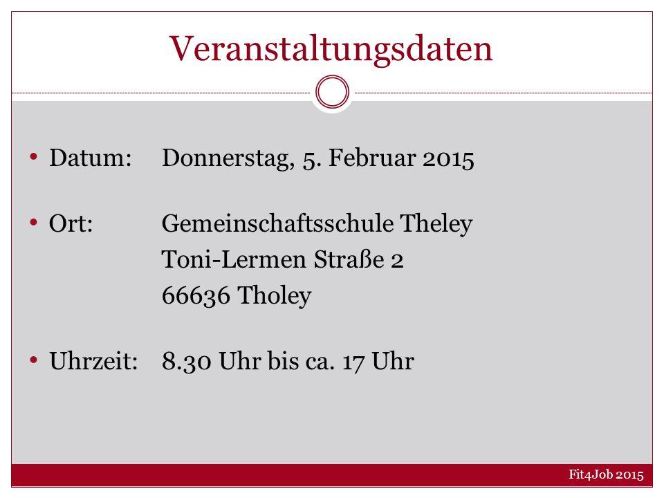 Veranstaltungsdaten Datum: Donnerstag, 5. Februar 2015