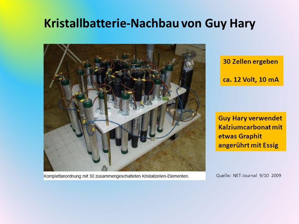 Kristallbatterie-Nachbau von Guy Hary