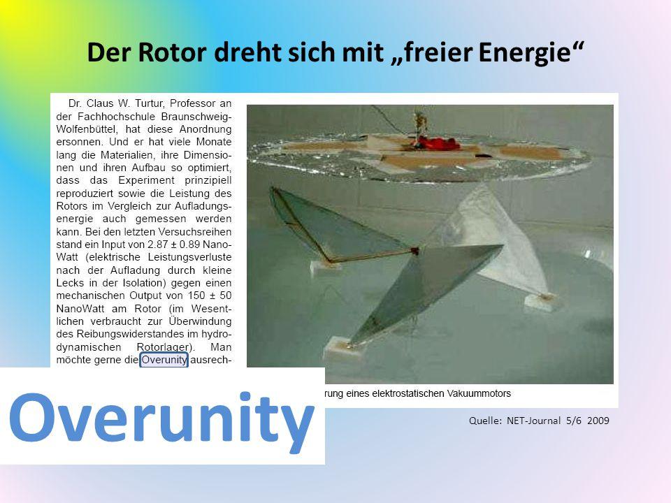 """Der Rotor dreht sich mit """"freier Energie"""
