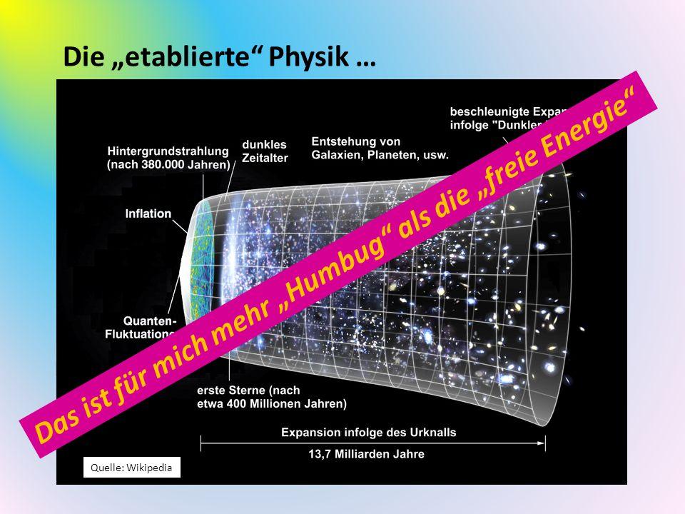 """Die """"etablierte Physik …"""