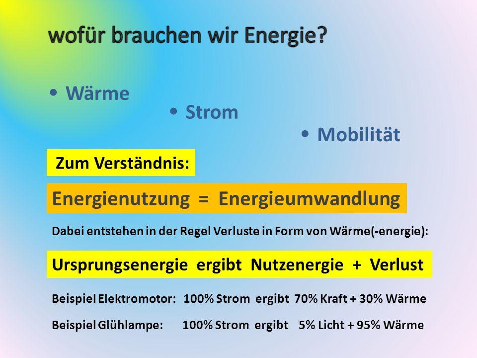 wofür brauchen wir Energie