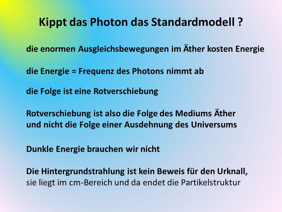 Kippt das Photon das Standardmodell