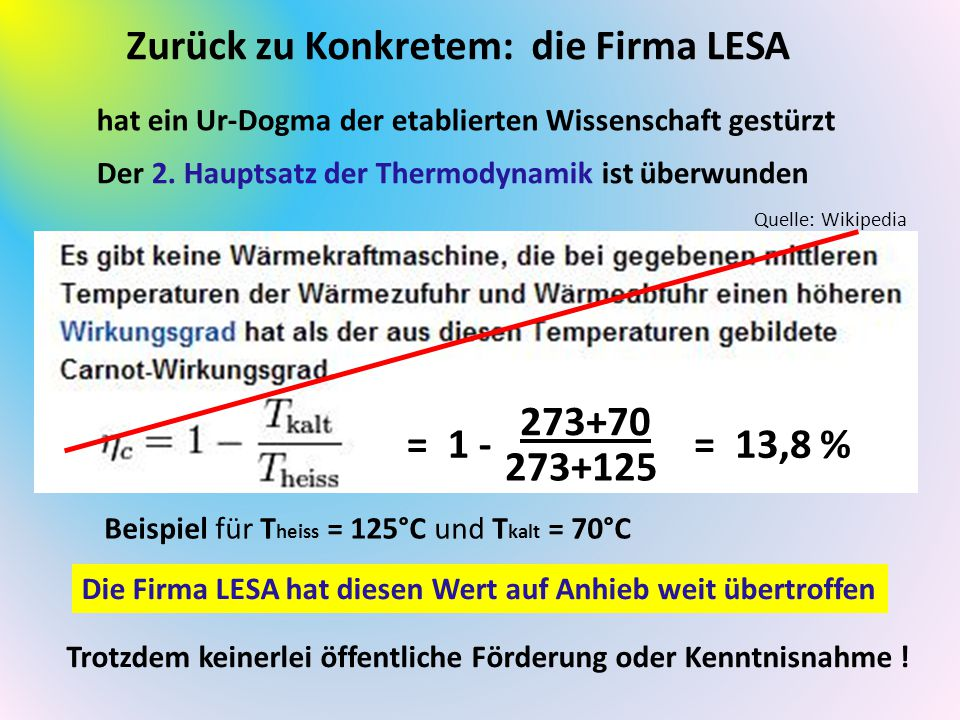 Zurück zu Konkretem: die Firma LESA
