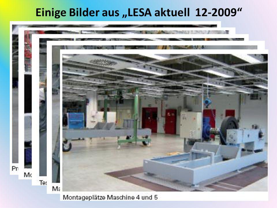 """Einige Bilder aus """"LESA aktuell 12-2009"""