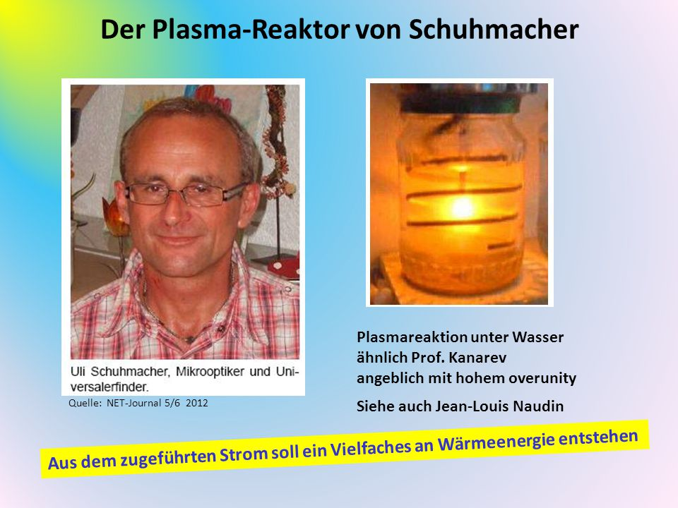 Der Plasma-Reaktor von Schuhmacher
