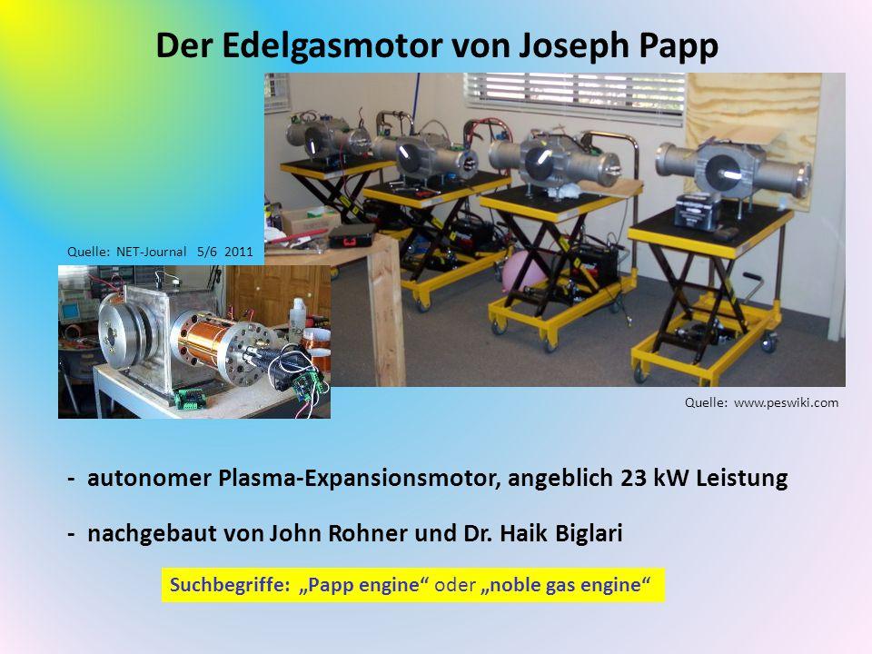 Der Edelgasmotor von Joseph Papp