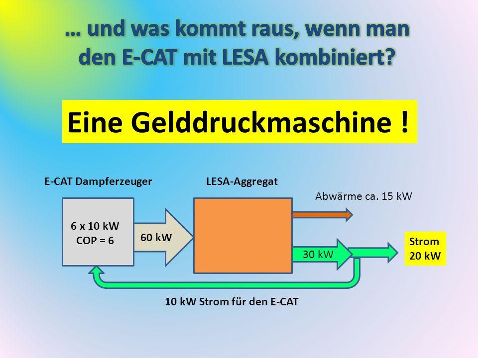 … und was kommt raus, wenn man den E-CAT mit LESA kombiniert