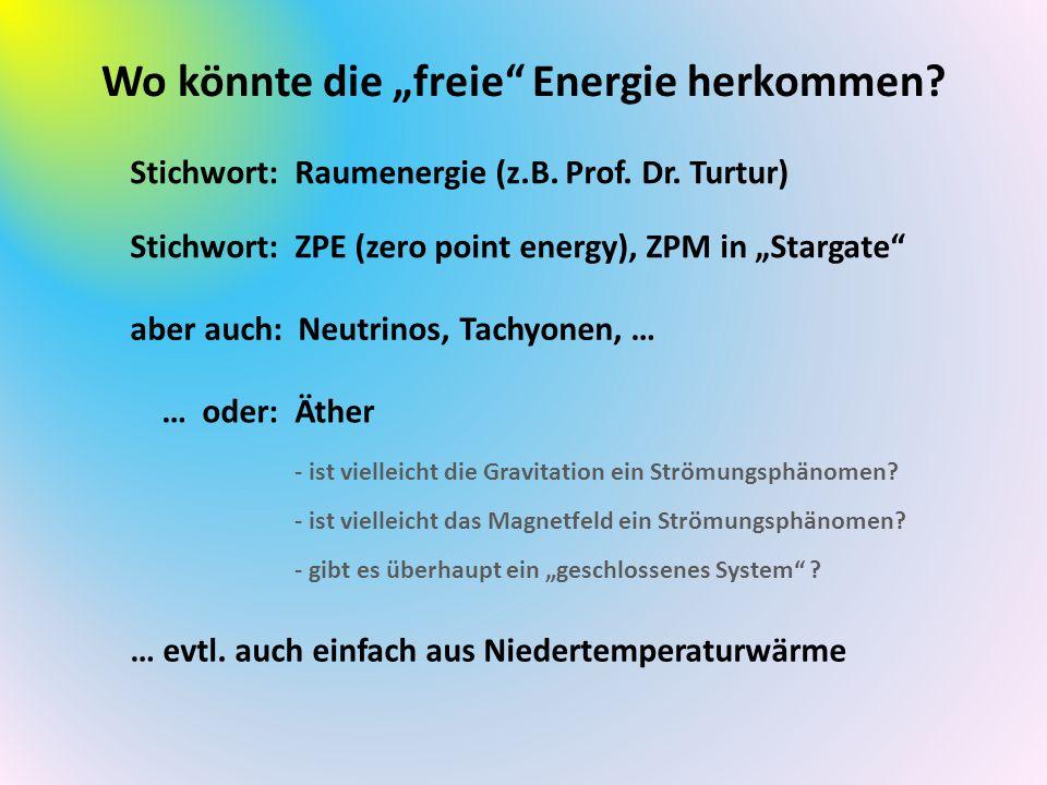 """Wo könnte die """"freie Energie herkommen"""