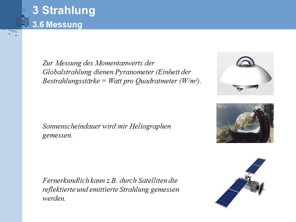 3 Strahlung 3.6 Messung.