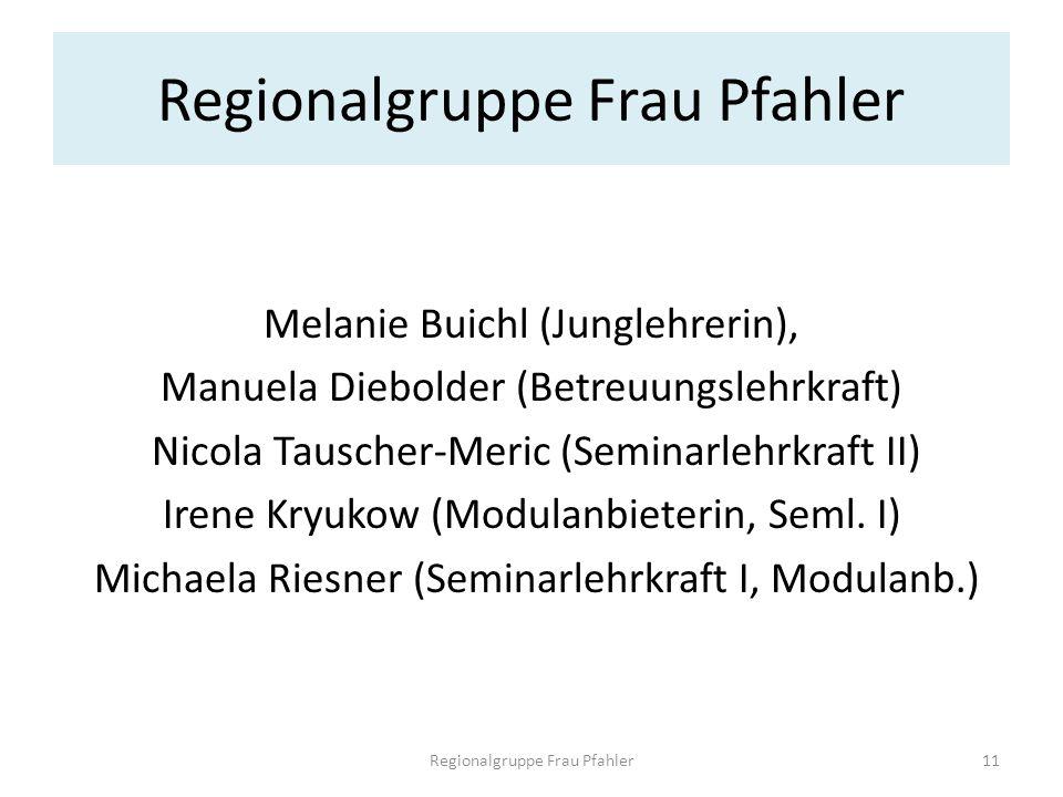 Regionalgruppe Frau Pfahler