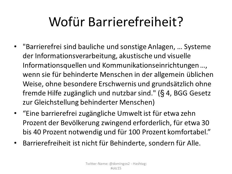 Wofür Barrierefreiheit