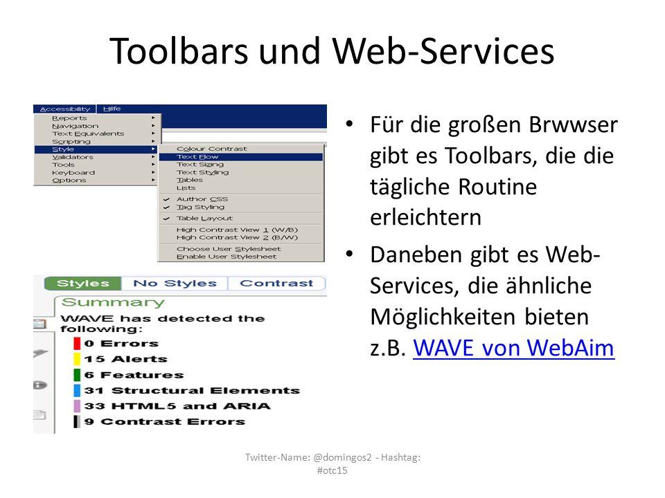 Toolbars und Web-Services